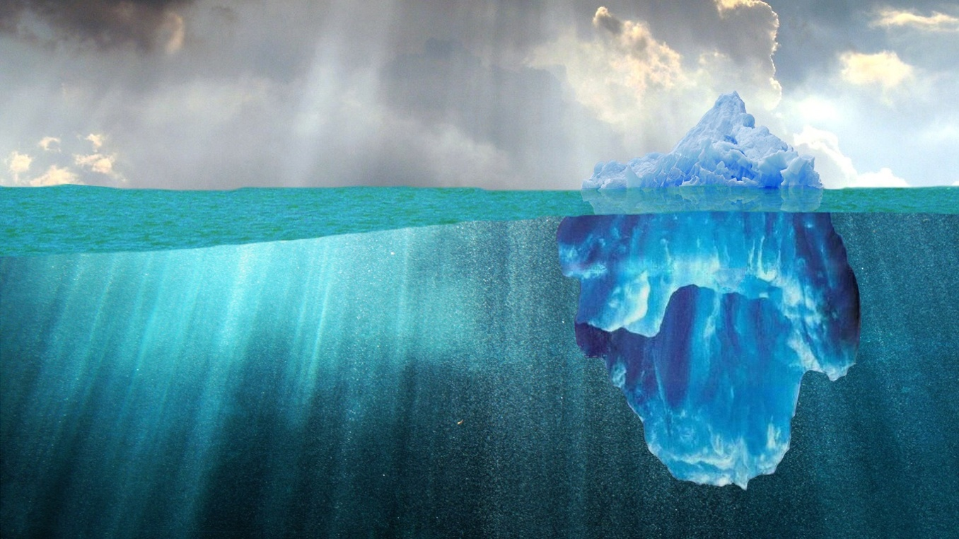 """What Lies Beneath."" Location-Based Marketing: Iceberg Image"