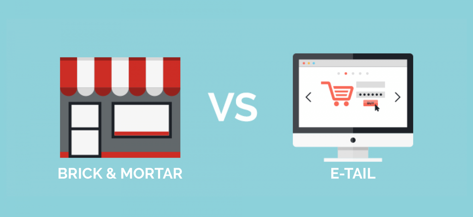 Brick & Mortar Retailers vs eTail Giants: Graphic