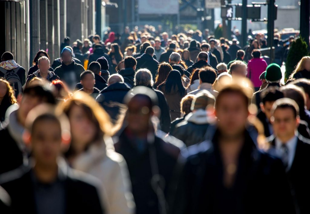 Audience Reach and Insight: People Walking On The Street