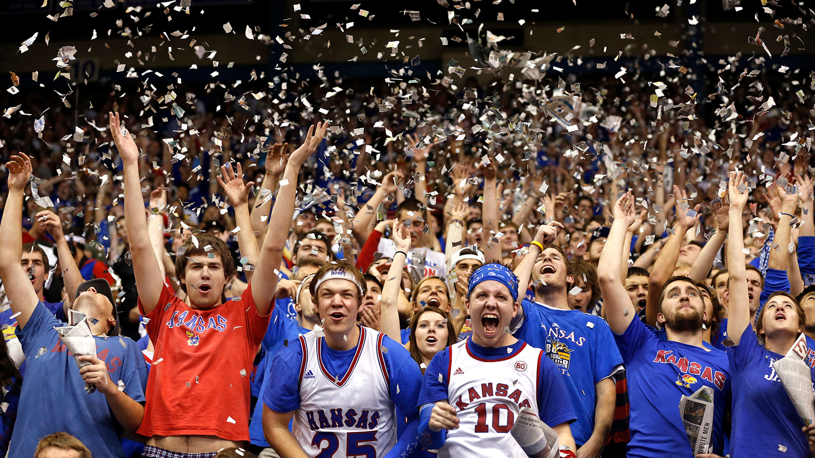 fans sports basketball college nba fan ncaa kansas court audiences ku nfl madness camping storming march stadium rules gravy announces