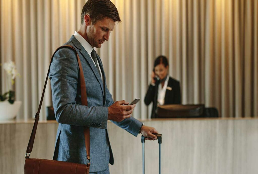 Business Man in Hotel Lobby