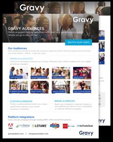 Gravy Audiences Overview