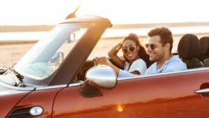 Couple in Luxury Car